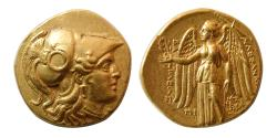 Ancient Coins - KINGDOM of MACEDON. Alexander III. 336-323 BC. Gold Stater. Babylon mint. Lustrous.