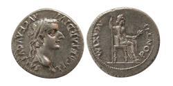 "Ancient Coins - ROMAN EMPIRE. Tiberius 14-37 AD. AR Denarius ""Tribute Penny"". Choice Superb. Lustrous. ""FDC""."