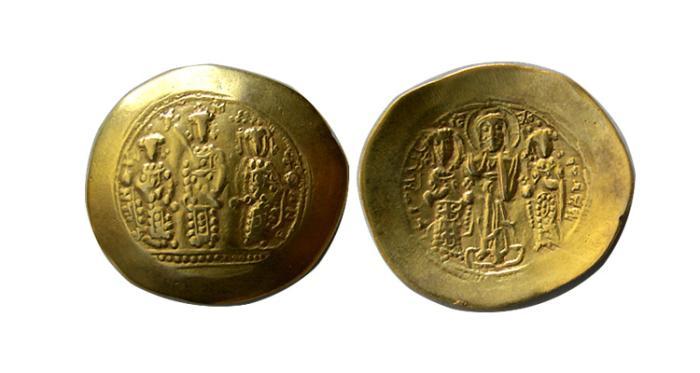 Ancient Coins - BYZANTINE EMPIRE. ROMANUS IV. 1068-1071 AD. Gold Histamenon Nomisma (scyphate)