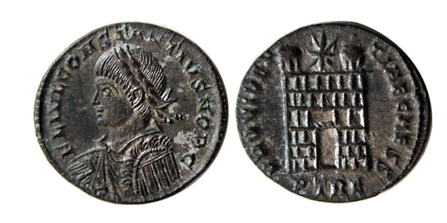 Ancient Coins - ROMAN EMPIRE. Constantius II. As Caesar, AD 324-337. Æ Follis . Trier mint.