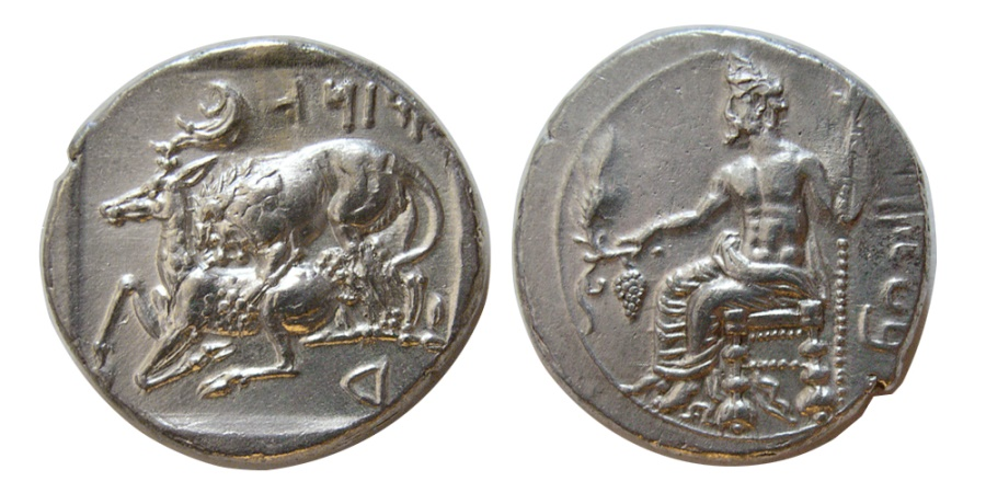 Ancient Coins - CELICIA. Mazaios. 361/0-334 BC. AR Stater. Tarsos mint. Lovely strike.