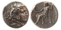 Ancient Coins - SELEUKID KINGS, Seleukos I. 312-280 BC. AR Tetradrachm.  Babylon I mint. Struck in the name of Alexander III