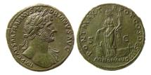 Ancient Coins - ROMAN EMPIRE. Hadrian. 117-138 AD. Æ Sestertius. Lovely strike. Choice Superb.
