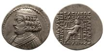 Ancient Coins - PARTHIAN KINGDOM. Orodes II. 57-38 BC. BI Tetradrachm. From the Sunrise Collection..