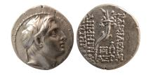 Ancient Coins - SELEUKID KINGS. Demetrius I. 162-150 BC. AR Drachm. Lovely strike. dated Year 161 SE.(152/1 BC)