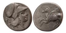 Ancient Coins - CORINTHA, Corinth. 375-300 BC. AR Stater.