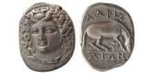 Ancient Coins - THESSALY, Larissa. 356-342 BC. AR Drachm.