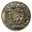 Ancient Coins - A SILVER REPOUSSÉ ROUND PLAQUE, Circa 1880