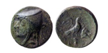 KINGS OF PARTHIA. Artabanus I (Arsaces II). 211-185 BC. AE chalkous. Lovely strike. Rare.