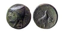 Ancient Coins - KINGS OF PARTHIA. Artabanus I (Arsaces II). 211-185 BC. AE chalkous. Lovely strike. Rare.