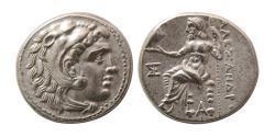 Ancient Coins - KINGS of MACEDON, Alexander III. 336-323 BC. Silver Drachm. Magnesia. Struck under Antigonos I