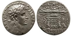 Ancient Coins - SELEUCIA, Seleucis and Pieria. Augustus. 27 BC.- 14 AD. AR Tetradrachm. dated SE 116.