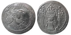 Ancient Coins - SASANIAN KINGS. Hormoizd II. AD. 303-309. AR drachm. AH(Ahwaz) mint. Rare Variety.