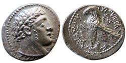 Ancient Coins - PHOENICIA. Tyre. dated year 51 (76-75 BC). AR half-shekel. Lustrous. Rare this nice.