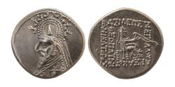 Ancient Coins - PARTHIAN EMPIRE. Sinatruces. 93-70 BC. Silver Drachm.
