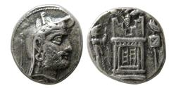 Ancient Coins - KINGS of PERSIS; Vadfradad (Autophradates) II. Early-mid 2nd century BC. AR Drachm.