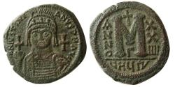 Ancient Coins - BYZANTINE EMPIRE. Justinian I. AD. 527-565. Æ Follis. Antioch mint, dated year 24.