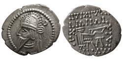 Ancient Coins - KINGS of PARTHIA. Vologases VI. AD. 207/8-221/2. AR Drachm. Ekbatana mint.