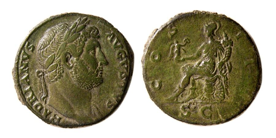 Ancient Coins - ROMAN EMPIRE. Hadrian. AD 117-138. Æ Sestertius.