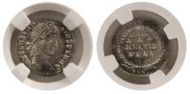 Ancient Coins - ROMAN EMPIRE. Constantius II. 337-361 AD. AR Siliqua. Thessalonica. NGC Ahoice AU (Strike 5/5; Surface 3/5).