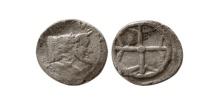 Ancient Coins - SICILY, Gela. Ca. 480-470 BC. Silver obol.