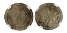 World Coins - Mexico. 1909 MO GV Peso. NGC MS-64.  Ciudad de México (Mexico City) mint. 1909.