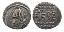 Ancient Coins - PARTHIAN EMPIRE. Pakoros I. Circa AD. 78-120. AR Drachm.