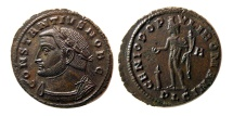 Ancient Coins - ROMAN EMPIRE. Constantius I, as Caesar. 293-305 AD. Æ Follis. Lovely strike.