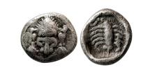 CARIA. Mylasa. Circa 450-400 BC. AR Hemiobol.