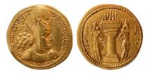 Ancient Coins - SASANIAN KINGS. Shahpur I. 240-272 AD. Gold Dinar.
