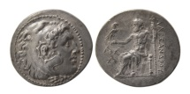 Ancient Coins - KINGS of MACEDON. Alexander III. 336-323 BC. Silver Tetradrachm. Posthumous issue. Lovely strike.
