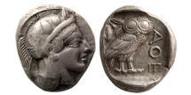 Ancient Coins - ATTICA, Athens. 440-404 BC. AR Tetradrachm. Lovely strike.