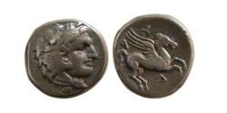 Ancient Coins - ILLYRIA, Dyrrhachion. Circa 300-200 BC. AR Drachm. Lovely strike. Rare.