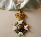 Ancient Coins - GREECE. The Order of the Redeemer, Commander's Cross, third Class. 18K. Gold with hand-painted enamel. Rare.