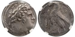 Ancient Coins - PHOENICIA, Tyre. 126/5 BC.- 65/6 AD. AR Shekel. NGC-XF.