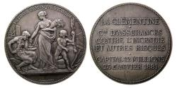 "World Coins - FRANCE. 1881. Silver Medal. ""La Clementine"""