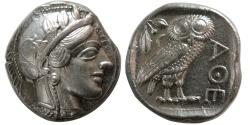 Ancient Coins - ATTICA, Athens. 440-404 BC. AR Tetradrachm. Full Crest. Great Style.