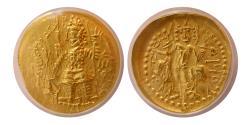 Ancient Coins - INDIA. Kushano-Sasanian. Imitating Vasudeva I. Ca. 190-230. AV Dinar. ANACS AU 50.