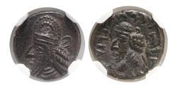 Ancient Coins - KINGS of PERSIS. Napad (Kapat). 1st century AD. AR Hemidrachm. NGC-AU.