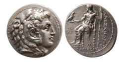 Ancient Coins - KINGS of MACEDON. Alexander III. 336-323 BC. Silver Tetradrachm. Side mint. Great style.