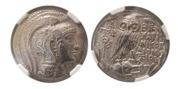 Ancient Coins - ATTICA, Athens. 2nd-1st. Centuries BC. AR Tetradrachm. New Style. NGC-AU (Strike 5/5; Surface 4/5)