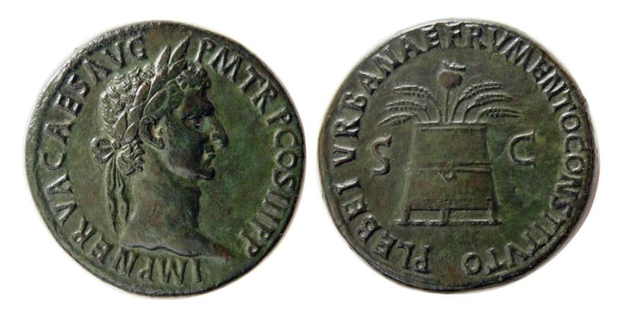 Ancient Coins - ROMAN EMPIRE, Nerva. A.D. 96-98. Æ Sestertius. Rare.