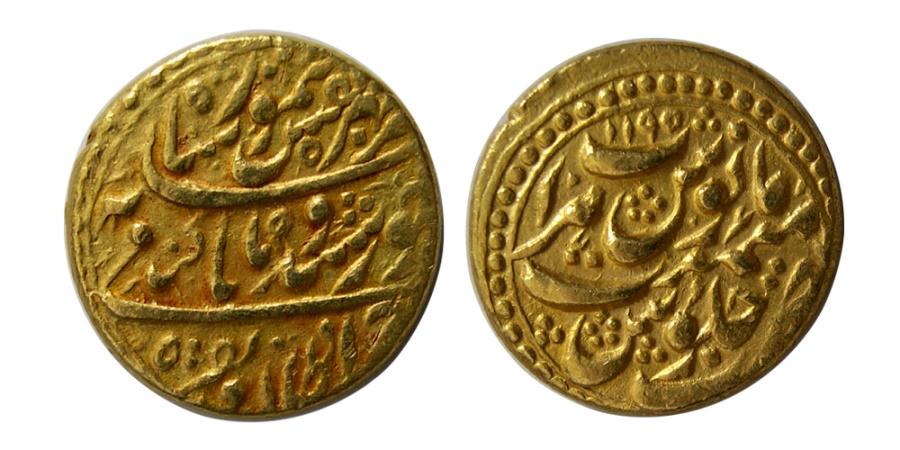 World Coins - DURRANI KINGS. Timur Shah. AH 1186-1207 / AD 1773-1793. AV Mohur.