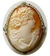 Ancient Coins - VICTORIAN ENGRAVED SARDONYX Brooch. Circa late 1800s. Perfect condition. Intact. Rare.