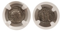 Ancient Coins - ROMAN EMPIRE. Constantine I. 307-337 AD. AE 3(Billon Numus) .  NGC Choice MS (Strike 5/5; Surface 5/5)