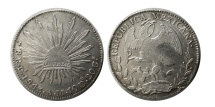 World Coins - MEXICO, Republic (Second). 1867-present. AR 8 Reales .