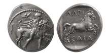 Ancient Coins - THESSALY, Larissa. early-mid 4th century BC. Silver Drachm.