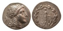Ancient Coins - AEOLIS, Myrina. circa 155-145 BC. Silver Tetradrachm. Lovely strike. Choice Superb EF.