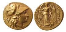 Ancient Coins - KINGS OF MACEDON. Alexander III. 336-323 BC. AV Stater. Tarsos. Very Rare variety. Lovely style.