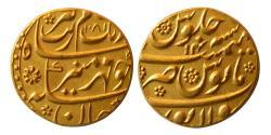 Ancient Coins - INDIA, Mughul Empire. Aurangzeb. 1658-1707 AD. Gold Mohur. Sholapur mint. AH 1081, Year 14.